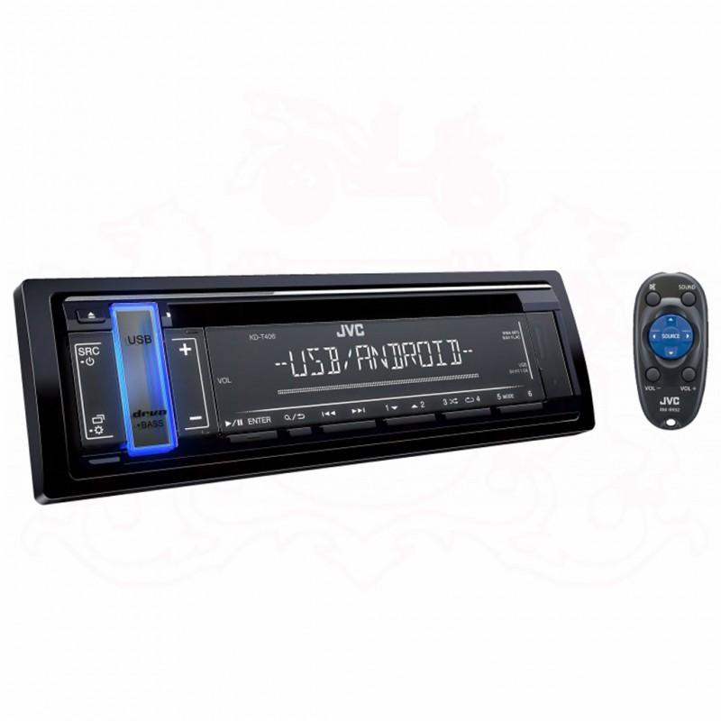 JVC KD-T406 SINGLE DIN CD PLAYER