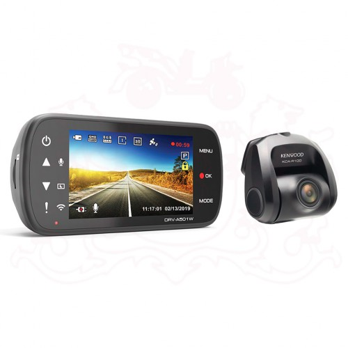 KENWOOD DRV-A501W CAR DVR DASH CAMERA  WITH GPS + KCA-R100 REAR VIEW CAMERA